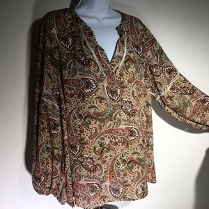Vintage DRESS BARN Paisley Top